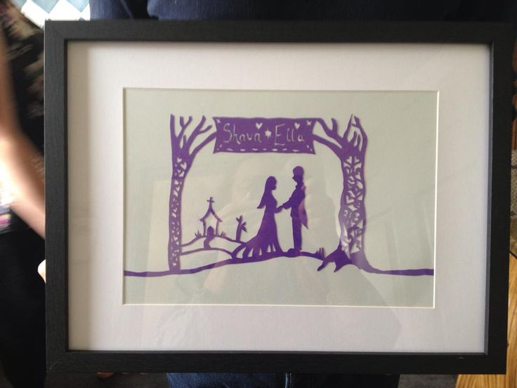 wedding paper cut comission own design  framed and ready to go