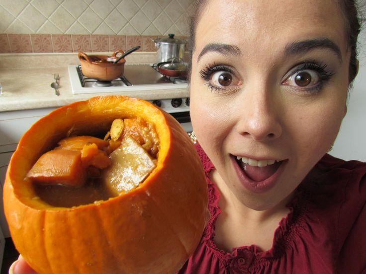 Como hacer calabaza en dulce videos pinterest - Hacer calabaza halloween ...