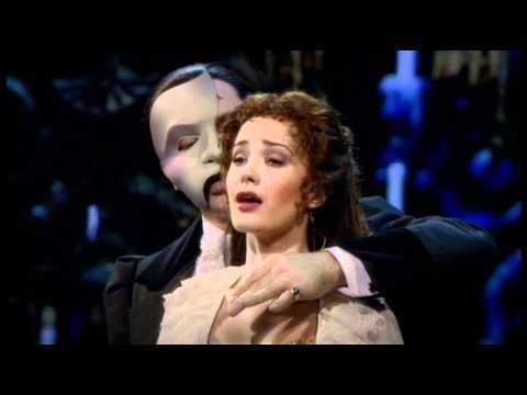 """Ramin Karimloo as the Phantom and Sierra Boggess as Christine Daaé during the Oct.2nd 2011 """"25th Anniversary Concert"""" in the Royal Albert Hall"""