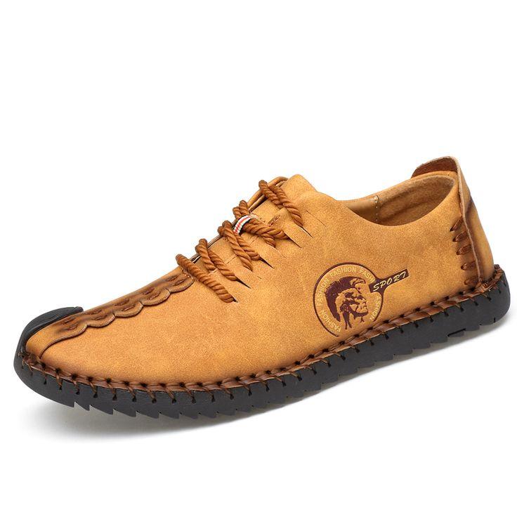 Hommes Chaussures en Cuir Printemps Automne Mocassins de Confort et Slip-Ons Chaussures de Conduite (Couleur : B, Taille : 39)