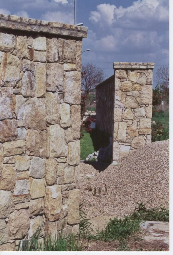 Granitwand. Granite wall.