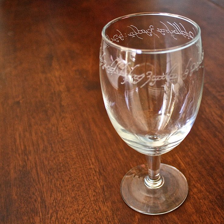 Set of Lord of the Rings Etched Glass by ThePolecatAndTheOwl, $29.00