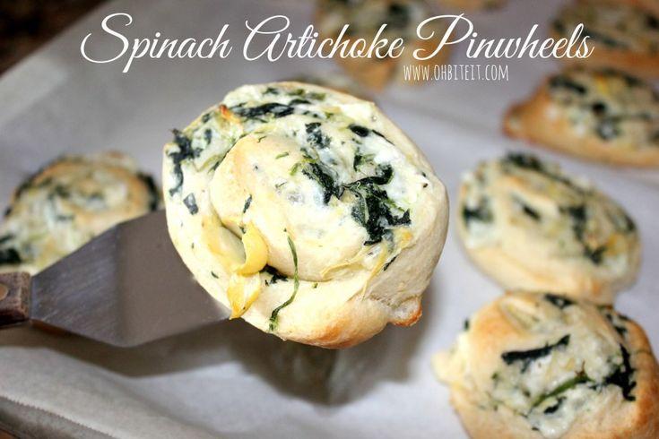 ~Spinach Artichoke Pinwheels!