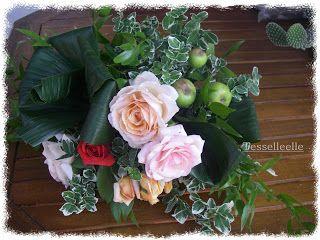 Di tutto un po'... bijoux, uncinetto, ricamo, maglia... ღ by tesselleelle ღ : Composizione di fiori freschi e....meline!
