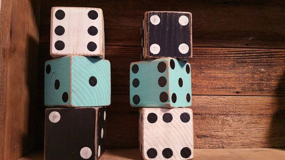 ******SET INCLUDES 6 DICE******  The possibilitys are endless when it comes to these beautiful dice set! You can add them to just about any room