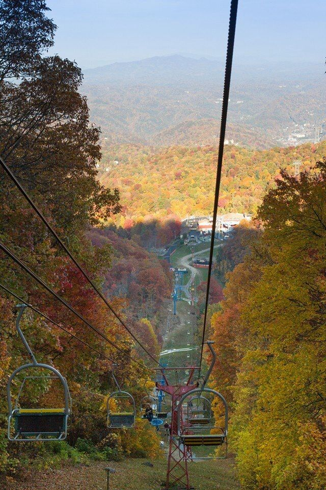 View from the chairlift in Gatlinburg, TN- the ride up and down was cool & scary all the same time :)