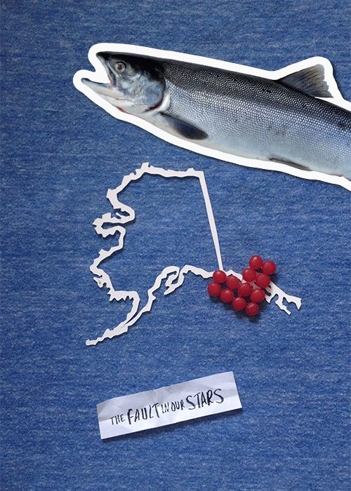 """Nifty .gif representing the state of Alaska in new The Fault in Our Stars promotion, """"Demand our Stars"""""""