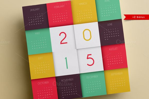 Calendars for 2015 by Sonne on Creative Market