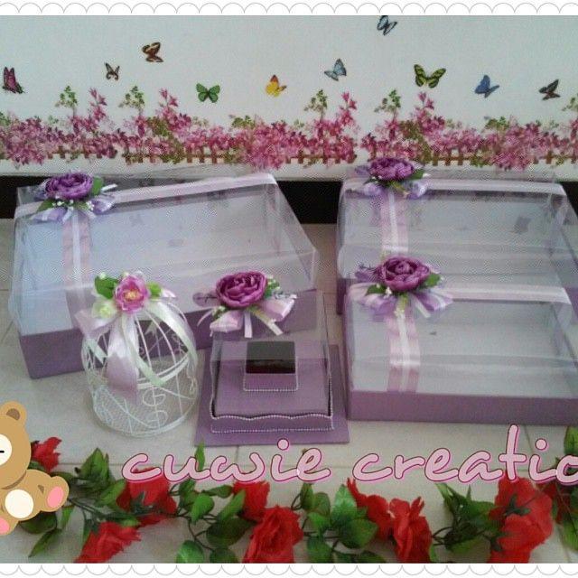hantaran pernikahan violet