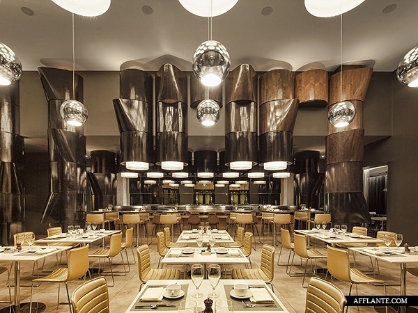 w hotel seattle skylab architecture hotel interiorsrestaurant - Beaded Inset Restaurant Interior