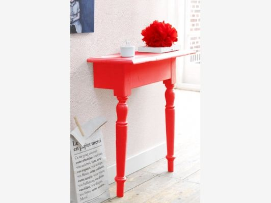 Orange Red Console Table   Home And Garden Design Ideau0027s