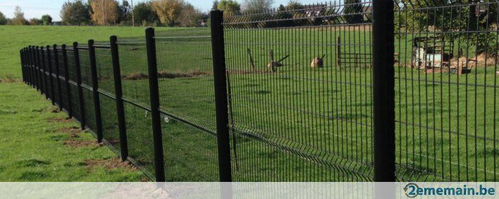Arrivage clôture rigide 1m53 noir, gris ou vert - A vendre