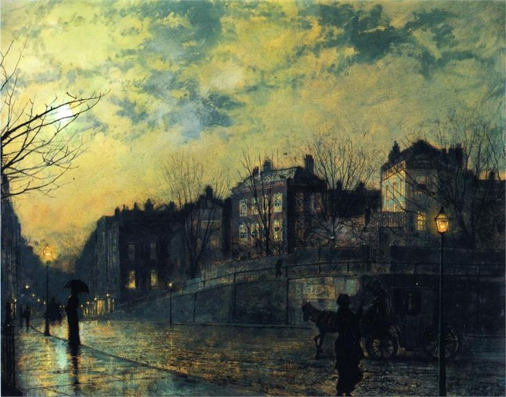 Hampstead / by John Atkinson Grimshaw