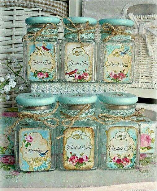 Pretty Tea Jars