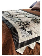 I like the colours and the pattern of this bed runner.