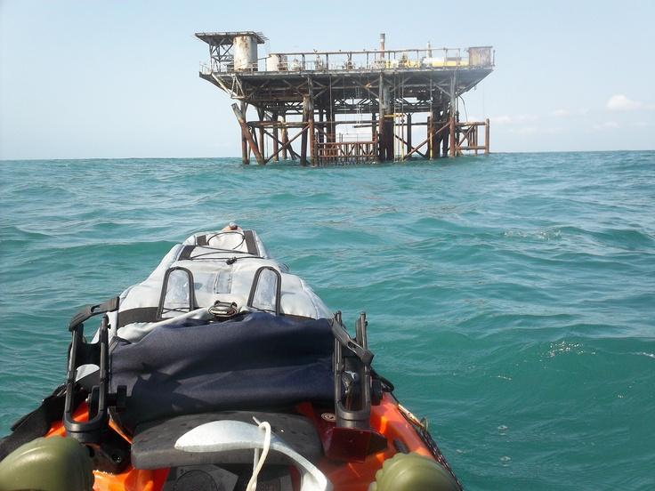 Kayak fishing for king mackerel around oil platforms for Offshore kayak fishing