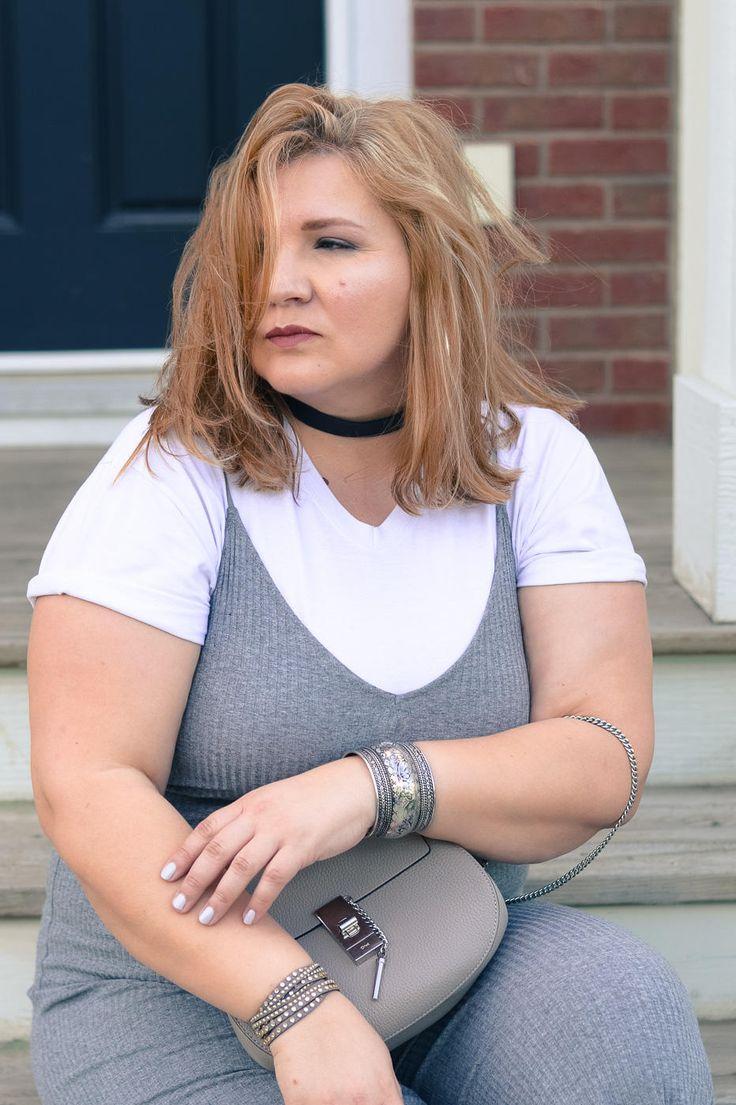 Zara jumpsuit, white sneakers, Converse, Chloe Drew bag, plus size, curvy…