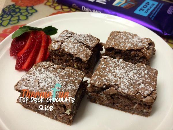 ThermoFun   Cadbury Top Deck Chocolate Slice Recipe