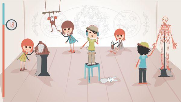 Illustrations for kids online game (Czech TV) by Dominika Gorecka, via Behance