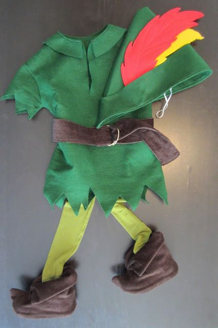 Peter Pan costume tutorial- I made this last night and it was relatively easy and only took about an hour and a half to complete it.