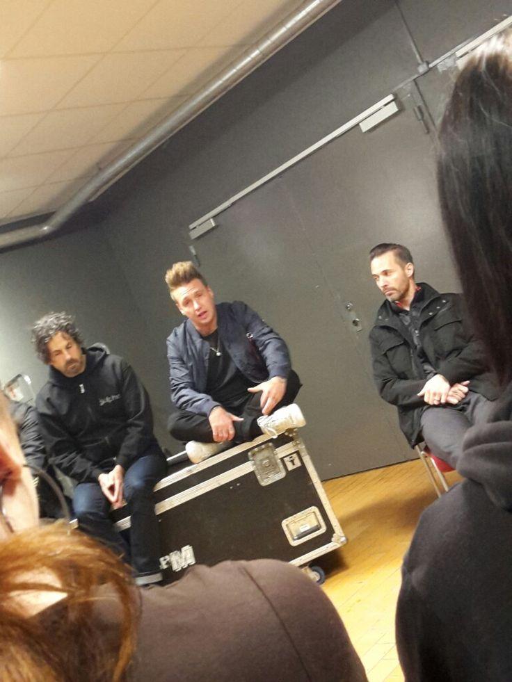 Papa Roach Fryshuset Tisdagen den 24 Oktober 2017 Vip möte för tredje gången. Härliga killar med massor med  humor. ❤