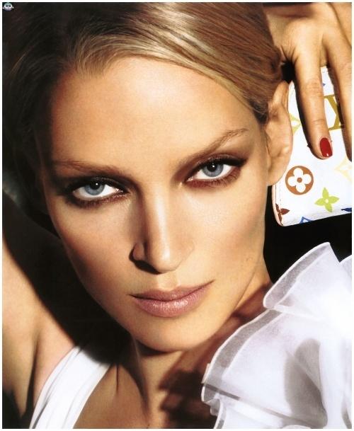 Uma Thurman for Louis Vuitton Spring/Summer 2005 campaign