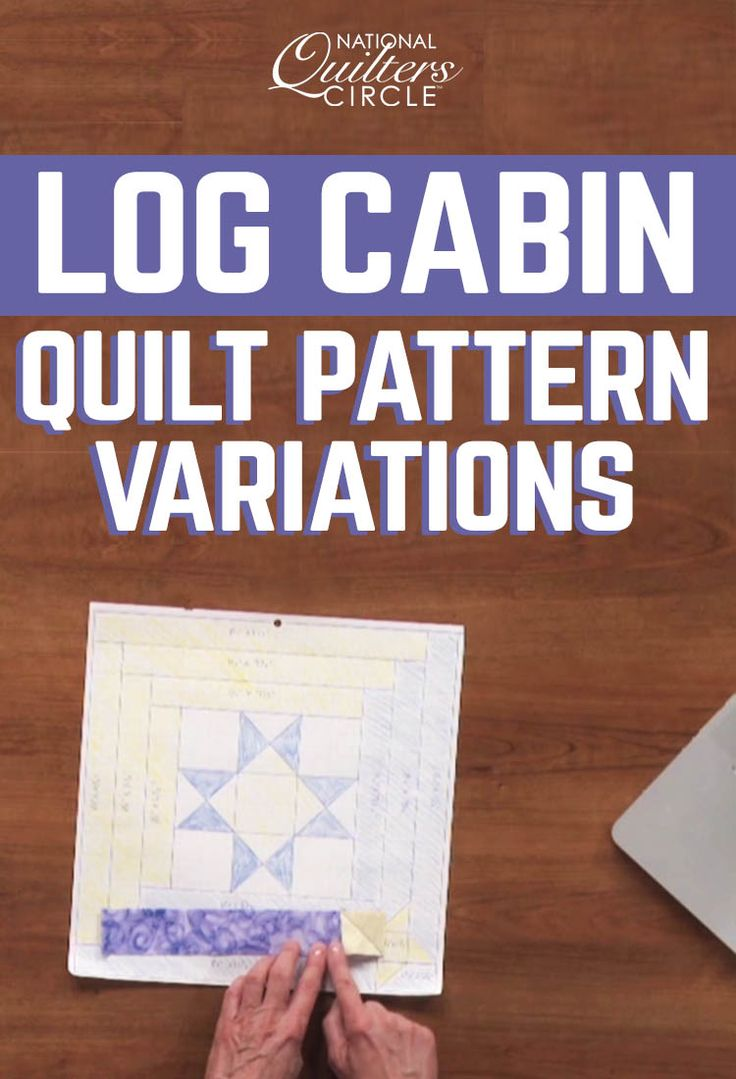 Carolyn Beam shows you how to add a little something extra to log cabin quilt pattern blocks such as incorporating a star in the logs. Learn how to add your own design to the center blocks as well as the logs. Start by drawing a grid diagram and then follow along until you complete the block.