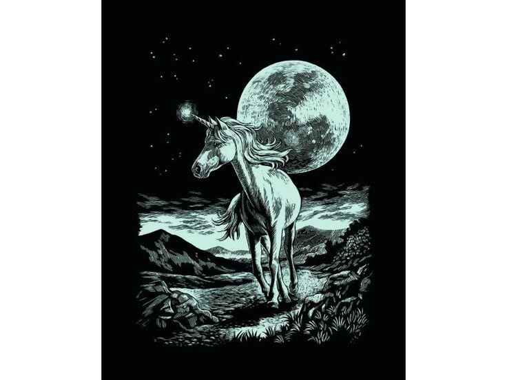Mammut - Carte à gratter argentée - 21 x 31 cm - licorne #mammut  #licorne #cartelicorne #carteagratter#argenté #idéecadeau #cadeaunoel