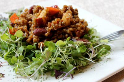 Wheat Berry and Red Bean Salad by JL Fields @ JL goes Vegan