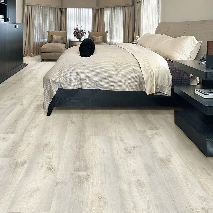 Bring A Creative And Stylish Floor Covering To Your Decor Using This Allure ISOCORE Flamed Oak White Luxury Vinyl Plank Flooring