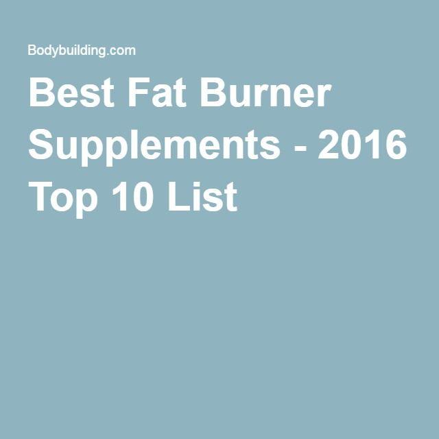 Best Fat Burner Supplements - 2016 Top 10 List