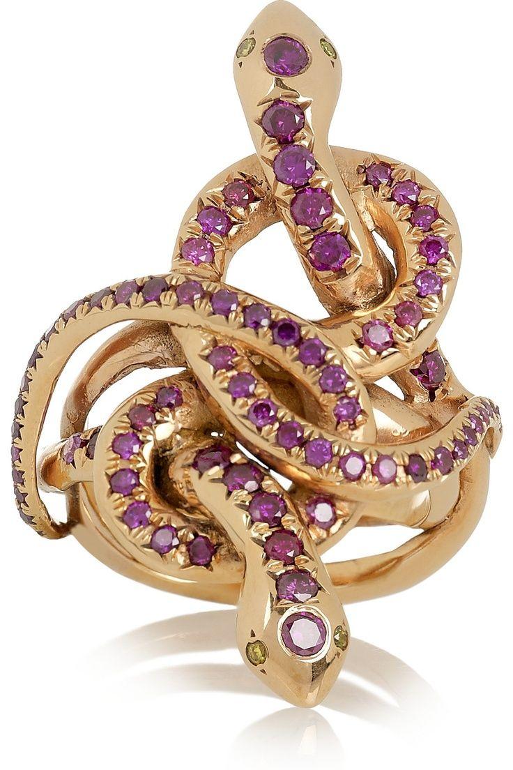 Ileana Makri Poison Hug 18-karat rose gold diamond ring