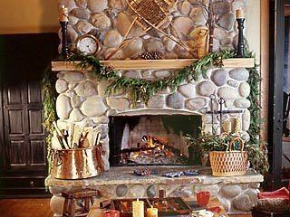 River Stone Fireplace best 25+ river rock fireplaces ideas on pinterest   river rock