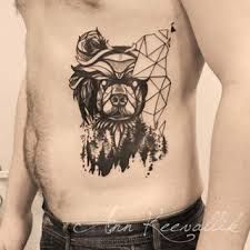 ผลการค้นหารูปภาพสำหรับ bear tattoo