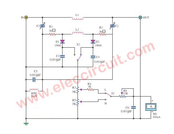 3 Simple Ac Wattmeter Circuits Eleccircuit Com Circuit Simple Ac Power
