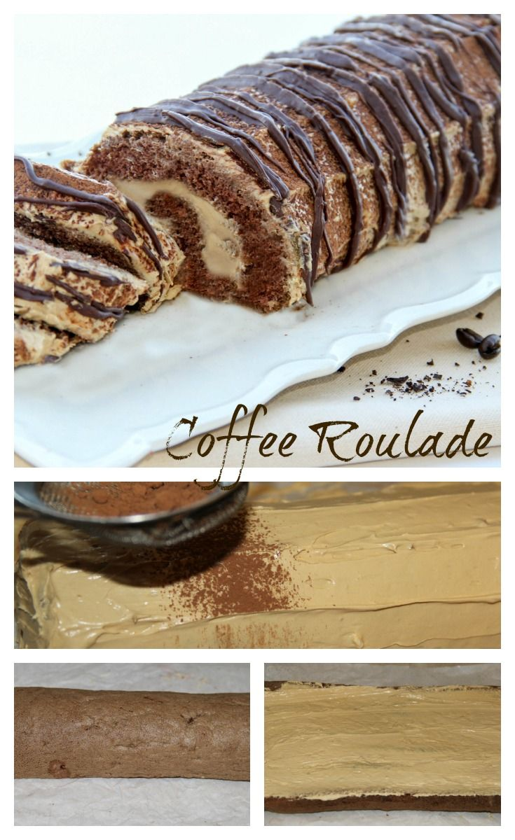 Chocolate Roll with a coffee cream.
