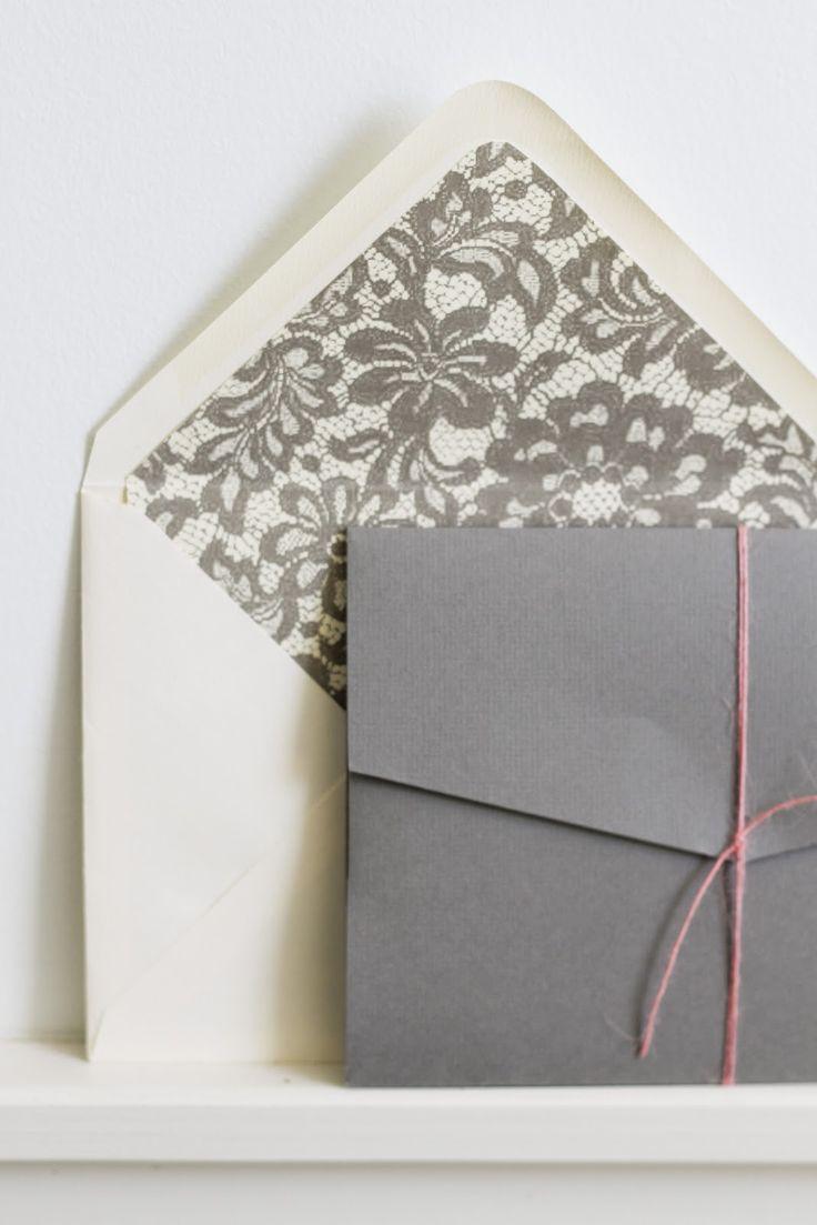 lace inspired envelope liner