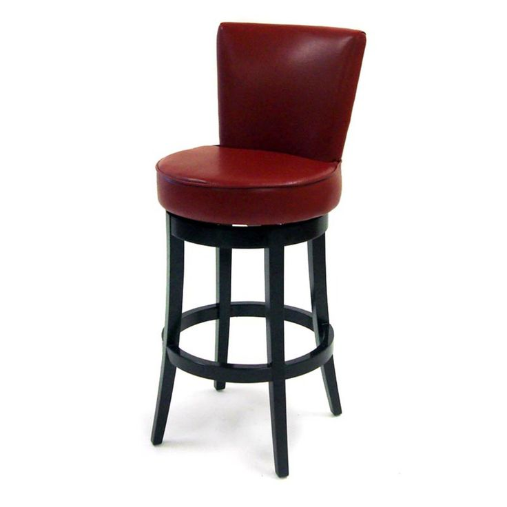 Armen Living Boston Leather Swivel Bar Stool - 30 in. - Red - LC4044BARE30