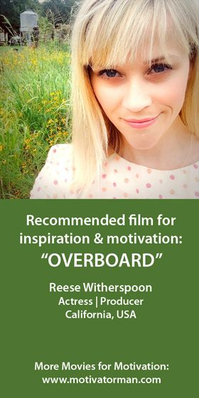 """""""When I'm really not feeling great, I like to watch Goldie Hawn and Kurt Russell in Overboard. It's my favorite movie. I'm not kidding."""" 84th Academy Awards, February 26, 2012 Reese from California, USA"""