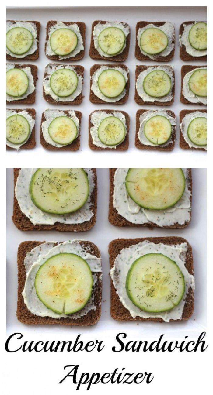 Cucumber Sandwich Appetizers - Momcrieff