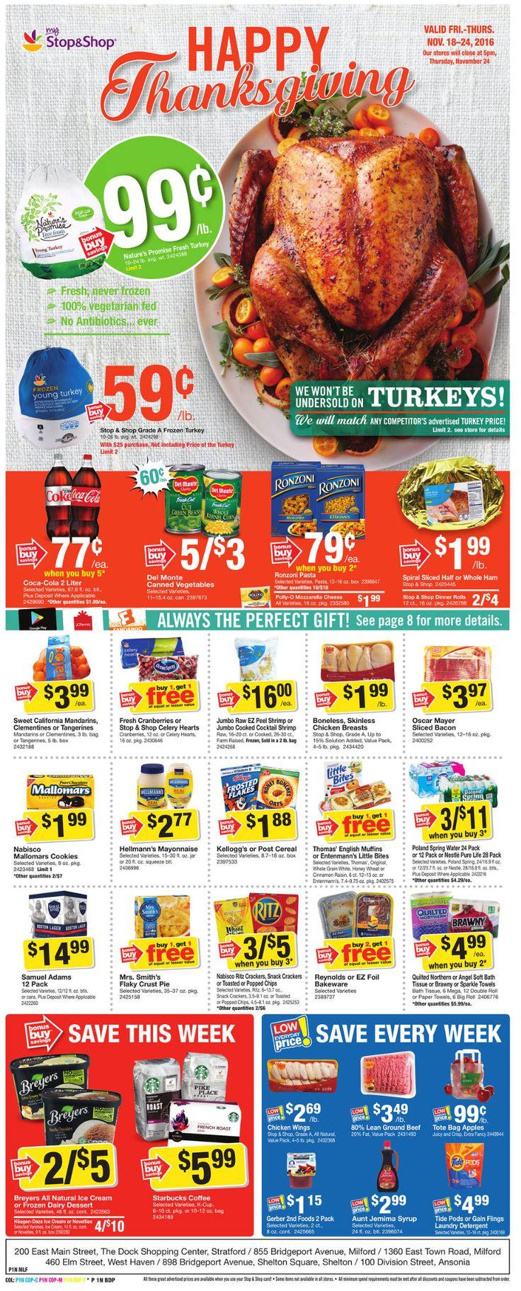 Stop and Shop Circular November 18 - 24, 2016 - http://www.olcatalog.com/grocery/stop-and-shop-circular.html