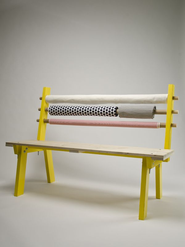 The Bolt Bench - a stylish (and comfortable) way to store your extra textiles   Dear Human