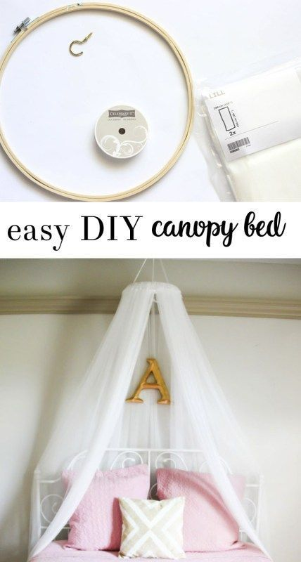 diy canopy bed   girls bedroom   diy crafts   ikea crafts