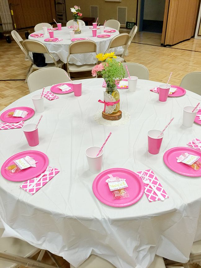 Activity Day Girls - Mother Daughter Lemonade (not Tea) Party...super easy and cute.