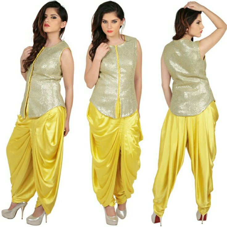 A fusion of indian and western satin georgette sequins. #freealterations #freehomedeliveryandpickups #tryathomebeforeorder #delhidesigner #delhigram #desidesigner #akshaywadhwa #fusionwear #yellowlove #gold #lookgorgeous #feelgood #bewise #rentyourfashion #rentfromftheramp #myotr #OffTheRamp For more details and designs please visit offtheramp.com or call 8447158533