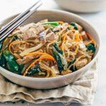 Japchae Korean Glass Noodles with Tofu