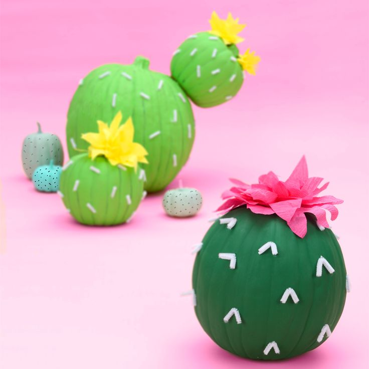blooming cactus pumpkin decorations easy diy halloween decorations make your own halloween table decor
