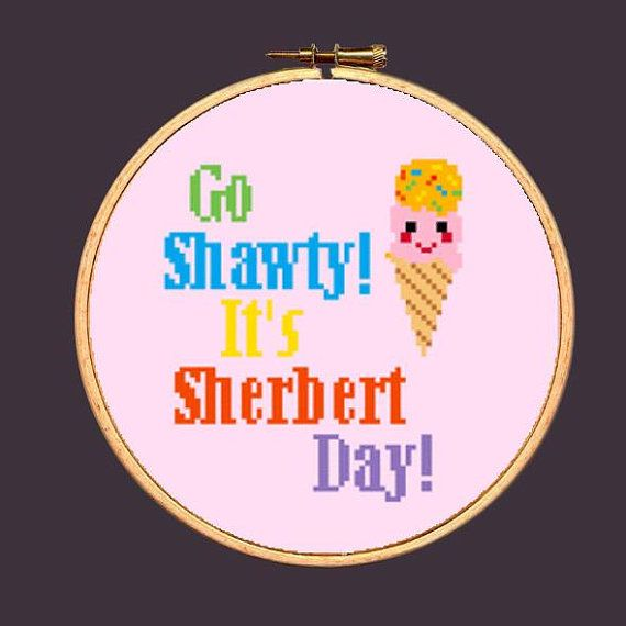 Ice Cream Cross Stitch Pattern Funny Needlepoint: Buy 2 Patterns Get 1 FREE!