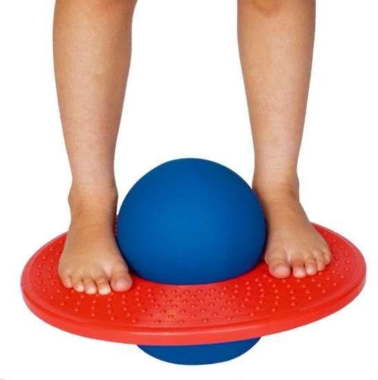 Pogo Ball - a wonder I didn't break my neck!