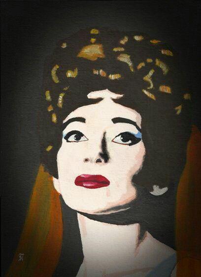 Kostas Giannopoulos (1975-), Callas as Paolina, acrylic on panel canvas